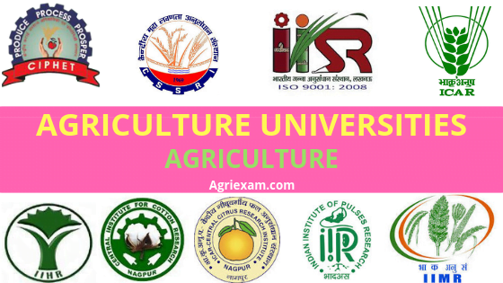 Agriculture university Central Agricultural University ICAR-National Dairy Research Institute Deemed Universities State Agriculture Universities Karnal