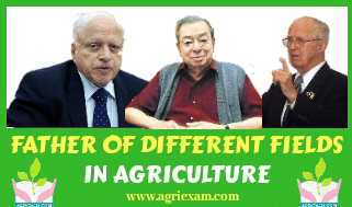 FATHER OF DIFFERENT DISCIPLINES OF AGRICULTURE