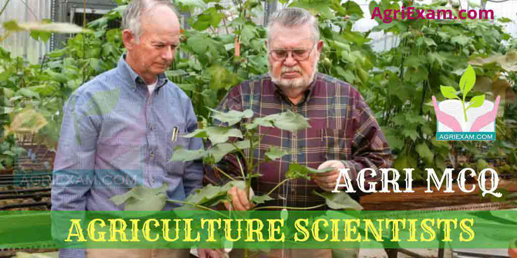 Agricultural Scientist MCQ Test