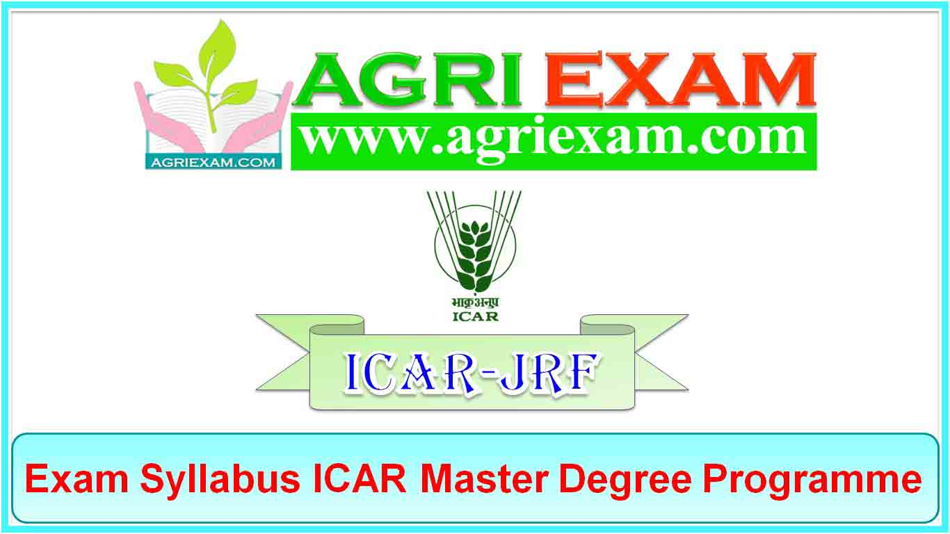 ICAR JRF Syllabus AGRICULTURAL ENGINEERING AND TECHNOLOGY