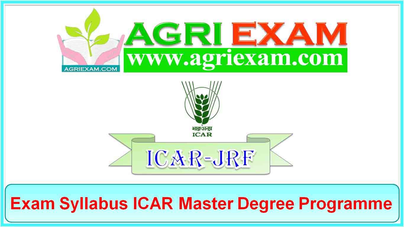 ICAR-JRF Syllabus